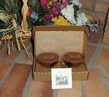 Longaberger Candles Macintosh Apple Fit In Dessert Bowls Set 4 New In Box