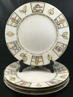 "Set of 4 Coventry COUNTRY GARDEN 10 3/4"" Dinner Plates"