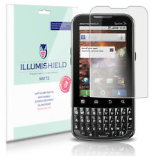 iLLumiShield Matte Screen Protector w Anti-Glare/Print 3x for Motorola XPRT