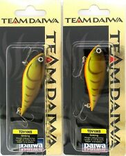 (2) Rare Team Daiwa 3/8 Oz Vibration 106 Lipless Crankbait Brown Craw TDV106S19