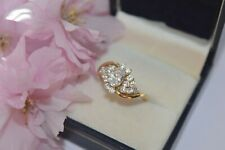 9ct Yellow Gold Cubic Zirconia Cluster Ring on a Twist Design