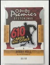 2008-09 Premier Bobby Hull /99 Stitchings 610 Career NHL Goals O-Pee-Chee 08/09