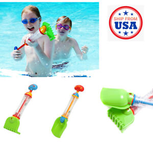 2pcs Summer Beach Sand Shovel & Fork Set Kid Toys Squirt Tube Water Blaster Gun