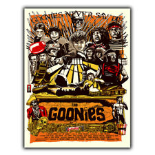 Metal Sign Wall Plaque The Goonies movie film ADVERT POSTER on Cave CINEMA Room