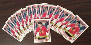 LOT OF 15 DARRYL SUTTER 1981-82 TOPPS ROOKIE HOCKEY CARDS # W77 BLACK HAWKS