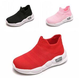 Children Sports Kids Stretch Sock Shoes Girls Running Sneakers Athletics Soft BB