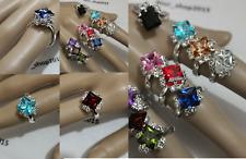 Unique Stylish Quality Fashion Rhinestone Czech Glass crystal Adjustable Ring
