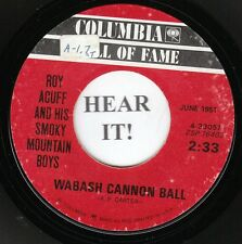 Roy Acuff HILLYBILLY BOPPER 45 (Columbia 33057) Wabash Cannon Ball/Great  VG+