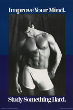 LOT OF 2 POSTERS :  IMPROVE YOUR MIND  -SEXY MALE MODEL     #9301     RC20 T