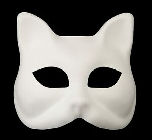 Masque de Venise Blanc à Peindre Gatto Chat pour enfant Carnaval Venitien 1085