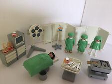 VINTAGE PLAYMOBIL SET 3459 OPERATING ROOM Hospital MEDICAL SURGERY Doctors EKG