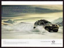 2005 NISSAN Xterra Vintage Original Print AD - Mountain snow SUV photo Canada