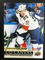 2018-19 UD Young Guns Canvas Rookie Henrik Borgstrom
