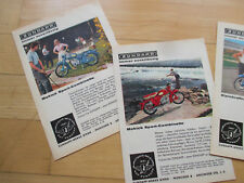 Zündapp Mokick, Moped & Kleinkraftrad 4 Orig.-Werbeanzeigen 60er-Jahre - schön!