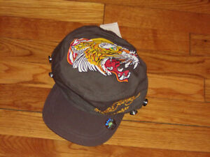 NWT ED HARDY FITTED MILITARY STYLE BASEBALL CAP MENS