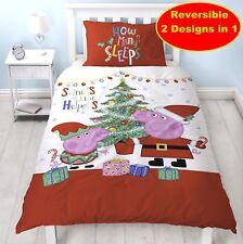 Officiel Peppa Pig Noël Noël Simple Housse de Couette Garçon Fille Cadeau