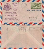 US 1946 20th ANNIVERSARY OF AIR MAIL IN NEW ENGLAND FLOWN COVER