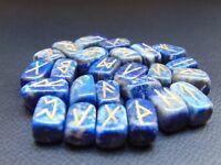 Lazuli Stone Rune Set Symbols Gemstone Healing Crystal Runes 25 Pieces