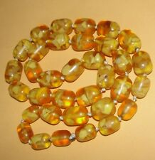 Amber Bead Necklace Yellow Copal Resin Baltic Butterscotch Poland Ukrain African