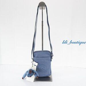 NWT New Kipling KI0271 Tally Mini Purse Crossbody Phone Bag Polyamide Blue Buzz