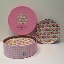 """Set Of 4 Boston Warehouse """"Cookie Lovers"""" Porcelain Plate Set """""""