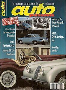 AUTO PASSION 81 PANHARD 24 CT JAGUAR XK120 CARROSSIERS 1925 1954, 1963 INDY 500
