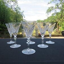 6 verres a vin rouge en cristal de val saint Lambert modèle eurydice H 15,5 cm
