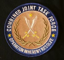 COMBINED JOINT TASK FORCE TACTICAL FULL COLOR IRON PATCH