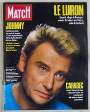 Johnny Hallyday Revue Paris Match Décembre 1986