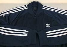 VINTAGE Adidas Orginials Men Zip-Up Jacket XL Dark Blue - Very Good Condition