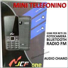 CELLULARE TELEFONO CON ASTI SIM RADIO FM BLUETOOTH FOTO FOTOCAMERA N-JCF ONE