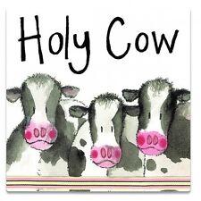 Alex Clark 'HOLY COW' Cow Fridge Magnet