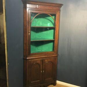 A late Victorian oak double decker one piece cupboard/cabinet/display circa 1890
