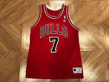 RARE Vintage 90's Champion NBA Chicago Bulls Toni Kukoc #7 Jersey Size 44