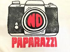 NEW!  NORDSTROM - 'NO PAPARAZZI' BABY WHITE COTTON BODYSUIT!   SZ 3-6 MOS.  NWT!