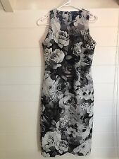 ASOS Black and White Floral Dress - Size 8