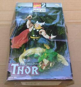 Thor Marvel Comics Level 2 Toy Biz Model Kit Factory Sealed Squished Box