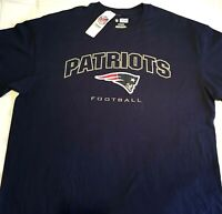 NEW ENGLAND PATRIOTS NFL Official Stitched Men T-Shirt Cotton Navy XLarge XL NWT
