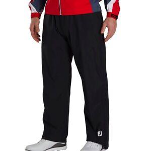 Footjoy Dryjoys Hydrolite XL Black Golf Rain Wind Waterproof Pants Trousers