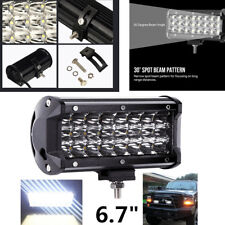 6.7 Inch 72W 3 Row 6000K Work Light Bar Spot LED For Offroad Truck - White 1PCS