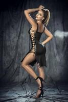 Mapale 4513 Open Hem Lace-Up Dress Dress