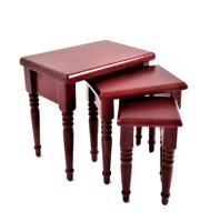 Puppenhaus Mahagoni Nest Von Tische Miniatur 1:12 Wohnzimmer Möbel