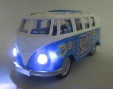 Gran samba autobús VW matrícula t1 con luz, sonido, motor de retracción, Flower Power, nuevo