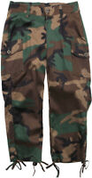 Women's Woodland Camouflage Capri Pants with Drawstrings | Tight Fitting