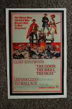 The Good The Bad and The Ugly Lobby Card Movie Poster Clint Eastwood