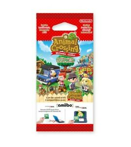Paquet Booster 3 cartes aléatoires amiibo ♥ Animal Crossing New Leaf Welcome