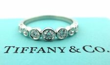 Tiffany & Co Platinum Tiffany Jazz Graduated Diamond Band Ring .31CT Size 5.5