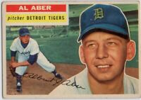 1956 Topps #317 Al Aber VG-VGEX Detroit Tigers FREE SHIPPING