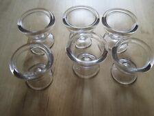 6 Coquetiers en verre France vintage