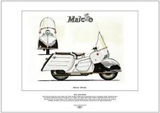 MAICO MOBIL MB200 - FINE ART PRINT - Luxury 1950's streamlined German Scooter